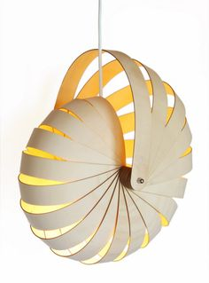 Favourite Things Friday – Paying it Forward: Hanging Nautilus Lampshades by Designer, Rebecca Asquith | Ali Matteini