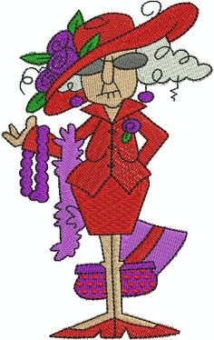 The Red Hat Society - Printable Greeting Cards | Red Hat Crafts ...
