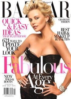 Flashback: US Harper's Bazaar October 2005 with Charlize Theron by Peter Lindbergh
