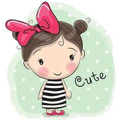 Linda garota dos - ilustração de arte em vetor
