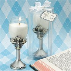First Communion Decorations Chalice Style Candle