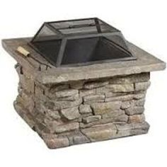 Outdoor Fire Pit Patio Pits Firepits Natural Stone Finish patio fire pit  #ChristopherKnightHome
