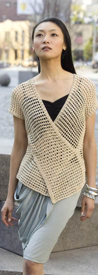Tokyo vest: lovely Tunisian crochet design by Doris Chan for Tahki Stacy Charles yarns