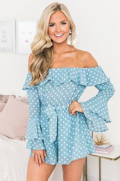 Always My Sweetest Love Romper Blue Spring Summer Fashion, Spring Outfits, Formal Romper, Beautiful Blonde Girl, Summertime Outfits, Dress For Success, College Fashion, Love Is Sweet, Fashion Outfits