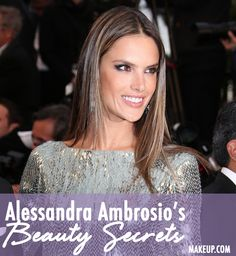 Alessandra Ambrosio reveals the secrets to her gorgeous hair and makeup!