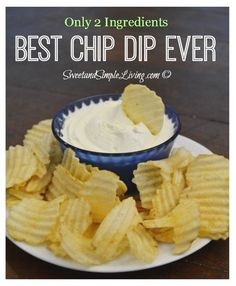 Cream Cheese Dip: The Best Chip Dip Ever! Tired of the same old french onion and ranch dips? Then I've got something that will knock your socks off! You've got to try making this cream cheese dip yourself. With only two ingredients you can't go wrong a Dips Für Chips, Chips Dip, Best Dip Recipes, Snack Recipes, Favorite Recipes, Chip Dip Recipes, Cheese Dip Recipes, Milk Recipes, Cream Recipes