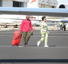 Family vacay: Momager Kris Jenner and her boyfriend Corey Gamble were also spotted on the ...
