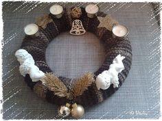 Adventskranz gold/braun... Geschenk für eine Freundin