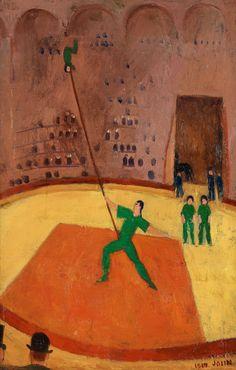 Einar Jolin (Swedish, In the Circus, Canvas laid down on panel, 73 x 48 cm. Carl Larsson, Reading Art, Art Station, Ragnar, Henri Matisse, Magazine Art, Traditional Art, Painting & Drawing, Sculptures