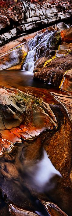 Hamersley Gorge Falls in the dry season - Western Australia - photo by Adam Monk copyright ~ thank you Adam Monk - gorgeous photos! The Places Youll Go, Places To Visit, Places To Travel, Western Australia, Australia Travel, Beautiful World, Beautiful Places, Vida Natural, Landscape Photographers