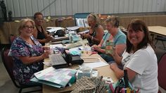 September 2014 Eileen Hull stops at the Charity Wings Art & Craft Center on her paper trail tour across the country! We just love her scoreboard dies from Sizzix an amazing innovative ideas.