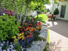 Walkway garden at the Hotel Iroquois - July 2013. Walkway Garden, Garden Landscaping, Outdoor Gardens, Indoor Outdoor, Mackinaw City, Mackinac Bridge, Mackinac Island, Grand Hotel, At The Hotel