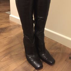 Like new! Nine West boots Scuffs on inner side as pictured. Nine West Shoes Heeled Boots