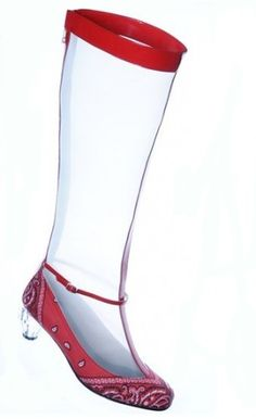 Chaussure transparente Amélie Pichard.