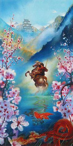 Mulan.  Disney Art by John Rowe.  http://www.animationartwork.com/artwork/mulan_art.sku16043