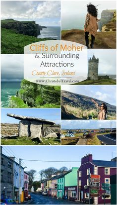 Cliffs of Moher and Surrounding Attractions in County Clare, Ireland - Christobel Travel - Click on the link for photography & tips on travel to Cliffs of Moher, O'Brien's Tower as well as Rathmorgan, The Burren National Park, Murroogh, Doolin Village, Doonagore Castle, Lisdoonvarna, Gleninsheen Wedge Tomb, Corcomroe Abbey and Kinvarra Village. Hike the cliffs and take a cruise / hiking / walking tour/ Harry Porter tour. Take a day trip from Dublin, Galway etc or stay at nearby hotels.