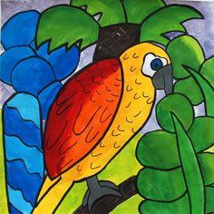 Artsonia Art Exhibit :: Rousseau Jungle Bird- 4th Grade- Alum Creek Elem.