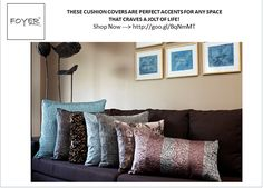 These cushion covers are perfect accents for any space that craves a jolt of life! Shop Now --->http://goo.gl/BqNmMT #homedecor #homedesign