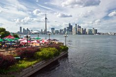 Downtown Toronto, as seen from Centre Island. October is an ideal time to visit this artsy city.