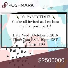 Come celebrate with me Oct. 5! I've been given the opportunity to cohost my first party and I'm super excited! The theme is still TBA but I just wanted to share the news and start searching for some new closets & awesome host picks! Feel free to give me a follow, like this post for updates & comment down below so I can check out your closet ✨ Other