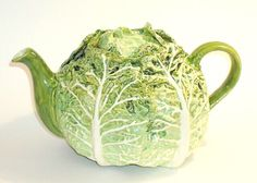 cabbage teapot www.sallymeekinsceramics.co.uk: