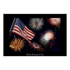 Bombs Bursting In Air Poster http://www.zazzle.com/bombs_bursting_in_air_poster-228473718314304957 #poster #print #fireworks #american #flag #4thofjuly