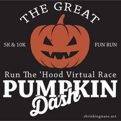 VIRTUAL RACE for Halloween! Registration is open now! #virutalrace #running #run #race #5K #10K #funrun