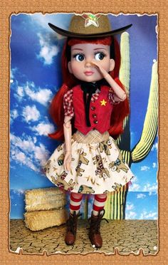 """Cute 6 PC Outfit for TONNER PATIENCE 14"""" dolls with Hat! Sheriff Patience is in town!  #KarmelApples"""