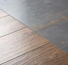 Best Indoor Garden Ideas for 2020 - Modern Wooden Windows, Wooden Stairs, Hall Flooring, Kitchen Flooring, Tile To Wood Transition, Floor Design, House Design, Hall Tiles, Relaxing Bathroom