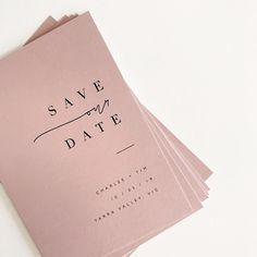 Save our date / @paigetuzee_designs