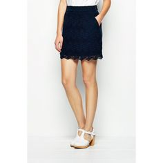 Jack Wills Radlett Gathered Lace Skirt ($129) ❤ liked on Polyvore