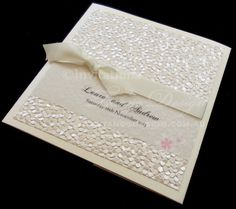 Square pocket fold invitations by www.tangodesign.com.au #pebblewedding #lattewedding #vintageinvitations