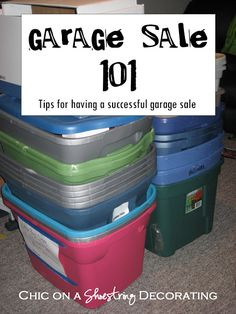 How to Have a Successful Garage Sale! after hanging out with Bellows at her garage sale today, i'm tempted to start compiling things to have one myself. (perhaps after the wedding or next spring to declutter) Garage Sale Organization, Garage Sale Tips, Hang Clothes Garage Sale, Organization Ideas, Garage Sale Pricing, Garage Ideas, Garage Storage, Rummage Sale, Sell Your Stuff
