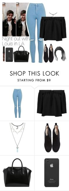 """""""SET NUMBER SEVENTEEN: Night out with Louis in LA // read d"""" by txmporaryfix ❤ liked on Polyvore featuring Topshop, Elizabeth and James, Ganni, Givenchy, Incase, 1d, louistomlinson and LA"""