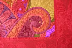 The Secret Life of Mrs. Meatloaf: Gallery of Show Quilts - mind blowing craftsmanship and quilt art! Longarm Quilting, Free Motion Quilting, Machine Quilting, Applique Wall Hanging, Fabric Postcards, Quilting Designs, Quilting Ideas, Mini Quilts, Fabric Art