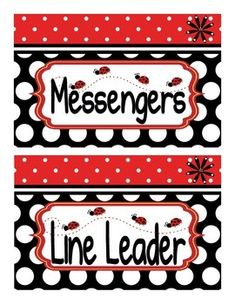 I love this ladybug theme classroom jobs display! Use on a bulletin board, pocket chart, or however you see fit. There are two patterns to choose fun or mix and match both. Ladybugs for student names and blank job plates are also included. Color print on cardstock or photo paper and laminate for lasting results.