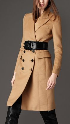 Tailored wool and cashmere coat - Burberry