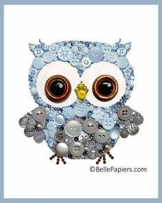 Owl button craft