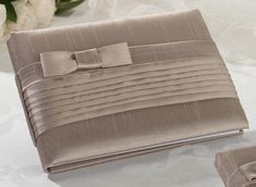 Lillian Rose GB520 T Taupe Pleated Silk Gbook