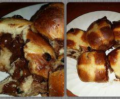 Recipe Molten Chocolate Hot Cross Buns by joypovey - Recipe of category Breads & rolls