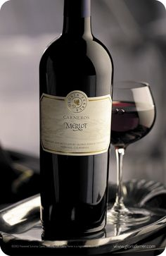Merlot red wine. Learn more about the types of red wine at http://hangingwinerackonline.com/types-of-red-wine/