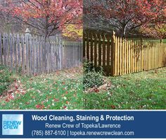http://topeka.renewcrewclean.com – What first impression is your wood fence making? This fence has been thoroughly cleaned, sealed and protected using Renew Crew of Topeka/Lawrence's unique 3-step process and looks fresh and inviting. We serve Topeka plus Lawrence KS. Free estimates.
