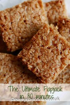 Easy, quick, yummy Flapjack ready for tea in half an hour. Easy, quick, yummy Flapjack ready for tea in half an hour. Tray Bake Recipes, Easy Baking Recipes, Gourmet Recipes, Sweet Recipes, Cooking Recipes, Oven Recipes, Vegetarian Cooking, Quick Desert Recipes, Vegetarian Barbecue