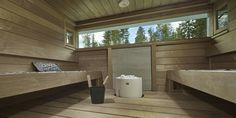Portable Steam Sauna - We Answer All Your Questions! Sauna Ideas, Finnish Sauna, Outdoor Sauna, Spa Rooms, Wooden House, New Homes, Bathroom, Tubs, Blue Prints