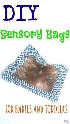 DIY Sensory Bags, So simple and easy to make!  Plus no mess!  - Pink Oatmeal
