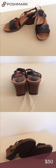 "Dansko sandals size 7.5/8 Dansko sandals size 7.5/8. 3"" wedge heel. Leather uppers . Great condition Dansko Shoes Wedges"