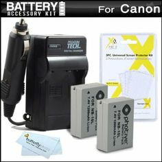 Amazon.com: 2 Pack Battery And Charger Kit For Canon PowerShot G16. $19.95