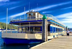 Coeur d'Alene Cruises is comprised of a fleet of five cruise ships, the largest with a capacity to hold up to 356 people. The largest two-deck boats are climate controlled, and have a fully equipped sound system and full bar service.