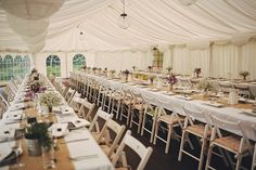 Long tables burlap babys breath lilac tealights jammers its a great look Relax House, Filming Locations, House Party, Tea Lights, Real Weddings, Wedding Venues, Table Settings, Long Tables, Wedding Photography