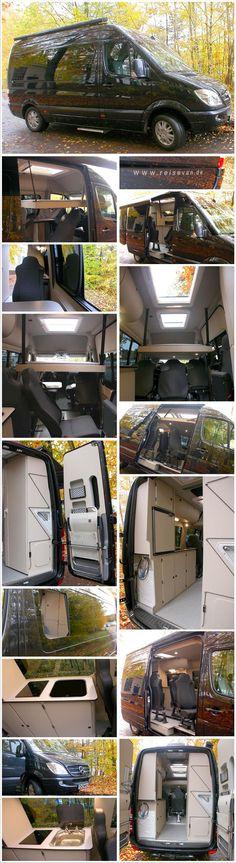 Best Campervan, Sprinter Rv, Van Camping, Vw Camper, Mobile Home, Caravans, Van Life, Glamping, Tiny Living